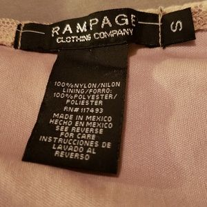 Rampage Tops - Rampage Sleeveless Lace Cream Top Blouse Small